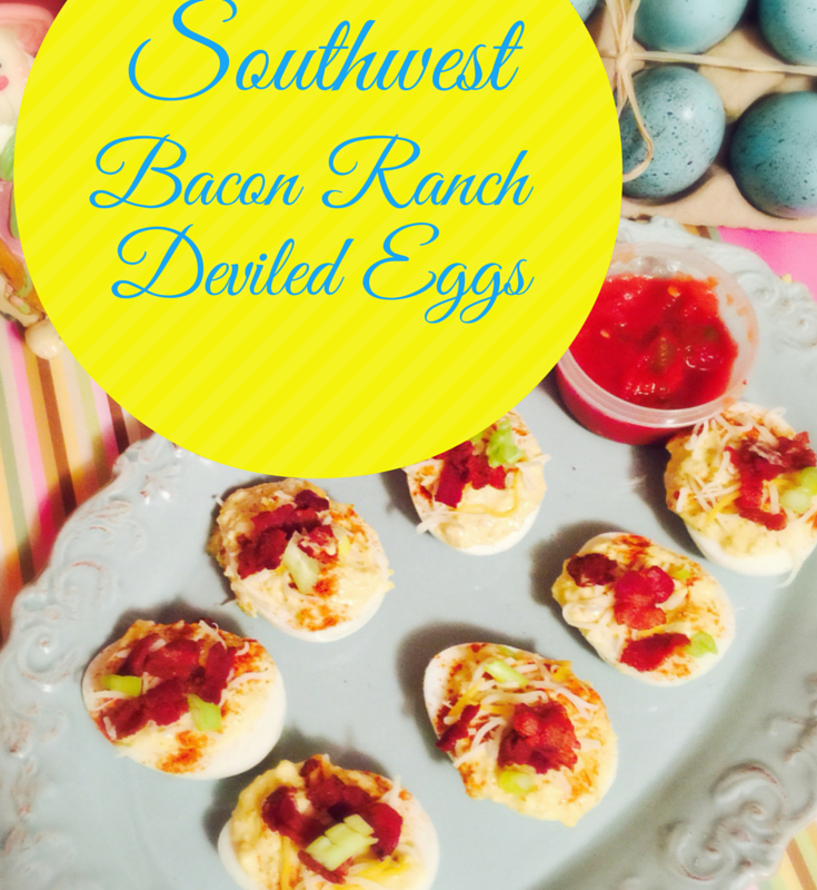 Southwest Bacon Ranch Deviled Eggs