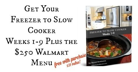 Freezer to Slow Cooker Free with Purchase