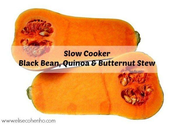 Slow Cooker Black Bean, Quinoa and Butternut Stew