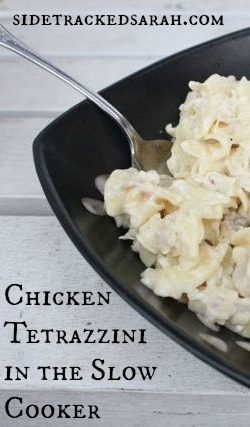 Chicken Tetrazzini Slow Cooker Recipe | Sidetracked Sarah