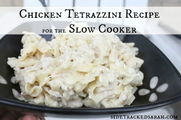 Chicken Tetrazzini in the Slow Cooker