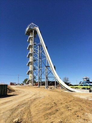 construction of water slide