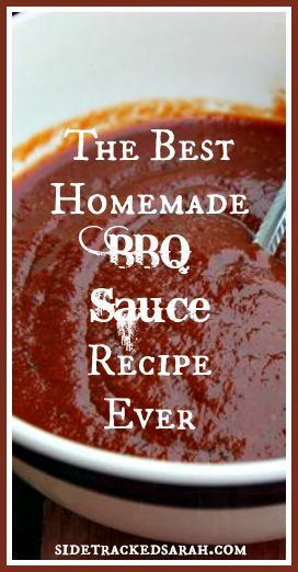 Easy BBQ Sauce Recipe - Pin ME!