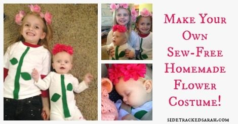 Homemade Flower Costume for Baby & Kids