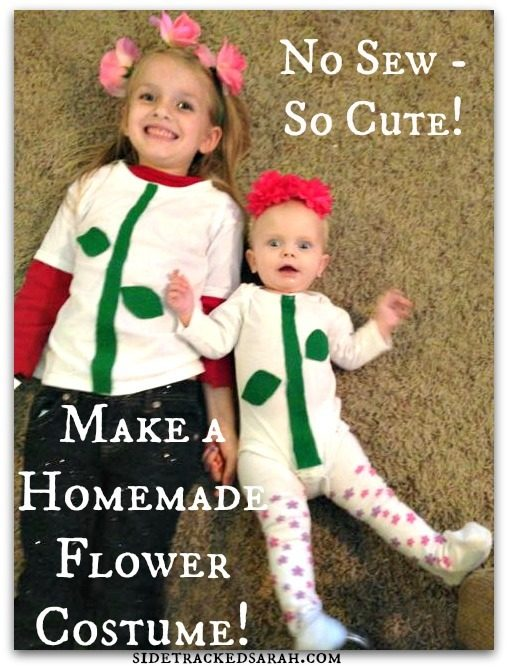 How to Make a Homemade Flower Costume!  sc 1 st  Sidetracked Sarah & Homemade Flower Costume for Baby u0026 Kids | Sidetracked Sarah