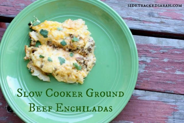 Beef Enchiladas in the Slow Cooker
