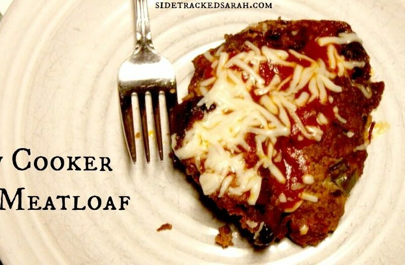 Pizza Meatloaf in the Slow Cooker