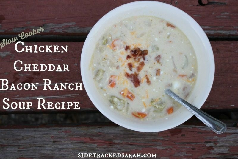 Chicken Cheddar Bacon Ranch Soup in the Slow Cooker