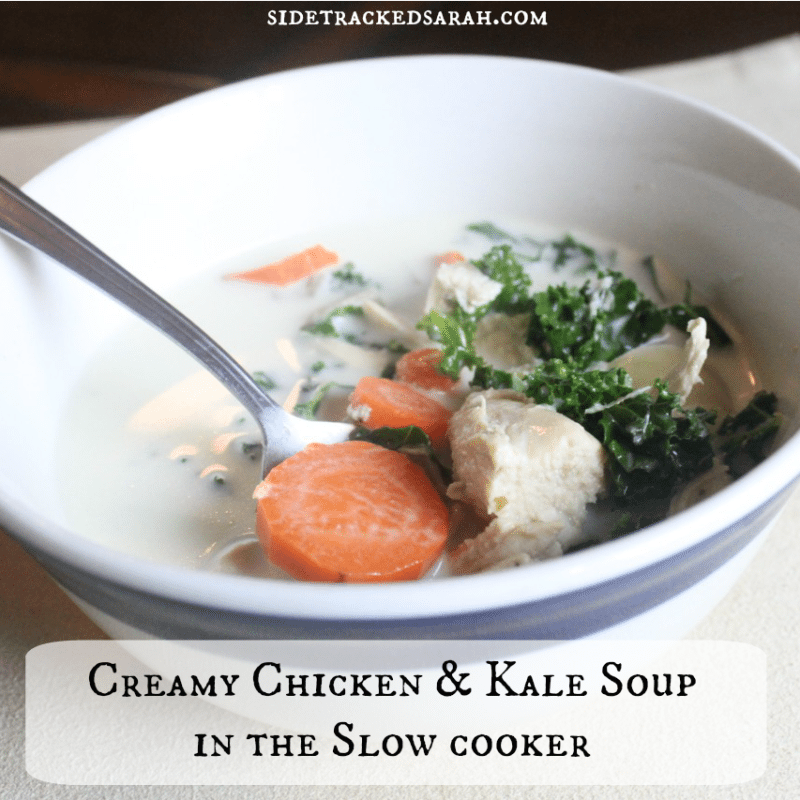 Creamy Chicken & Kale Soup Recipe for the Slow Cooker