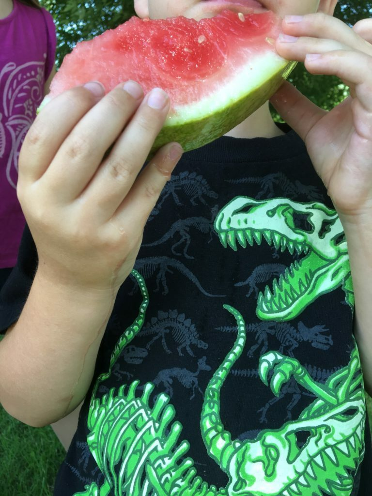Colton Eating Watermelon