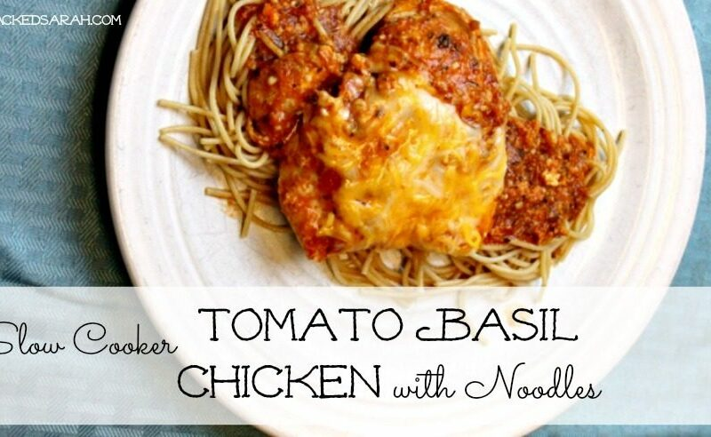 Slow Cooker Tomato Basil Chicken & Pasta (LOW CARB)