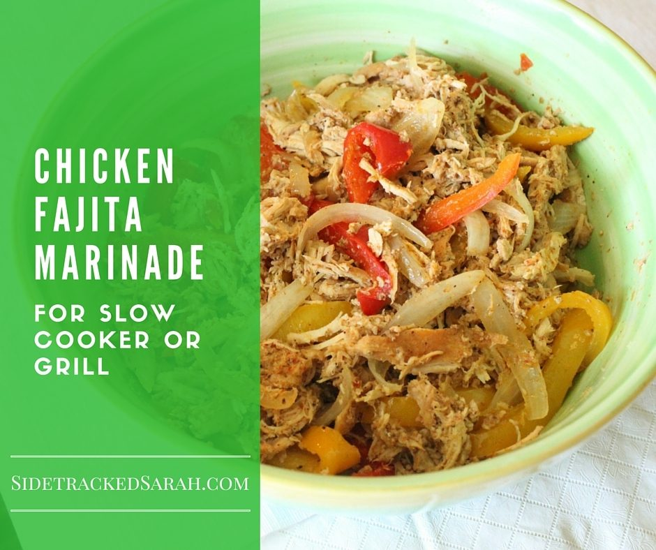 Chicken Fajitas for Slow Cooker or Grill