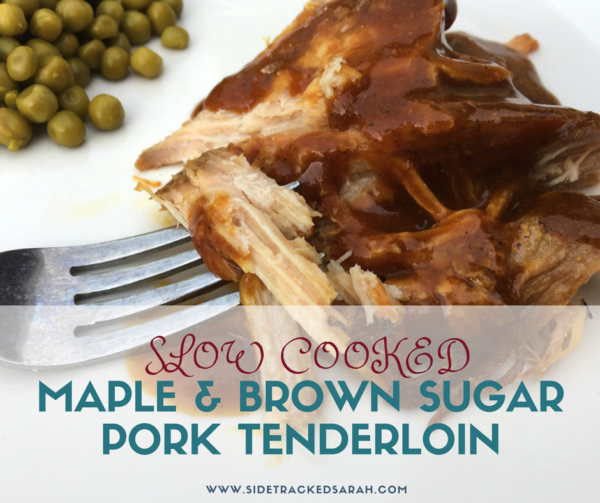 slow cooker maple & brown sugar pork tenderloin