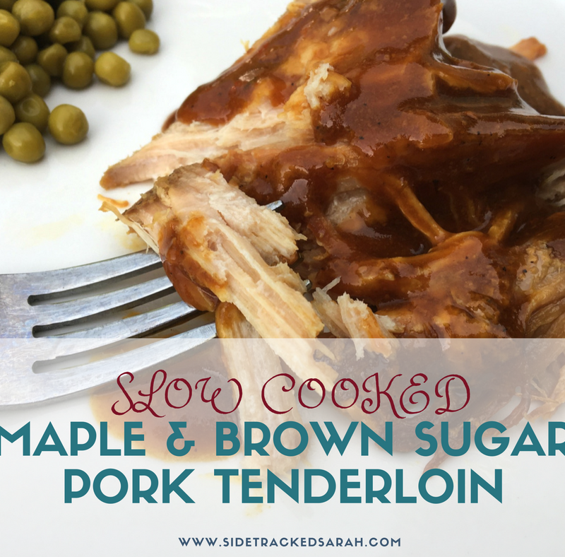 Maple & Brown Sugar Pork Tenderloin in the Slow Cooker