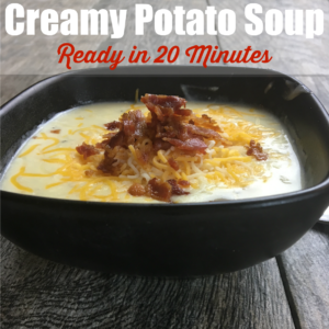 Creamy Potato Soup Made in 20 Minutes