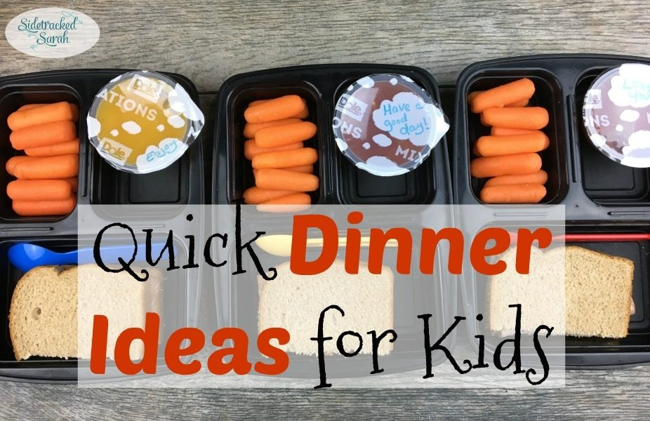 Quick dinner ideas for kids sidetracked sarah for Fun kids dinner ideas
