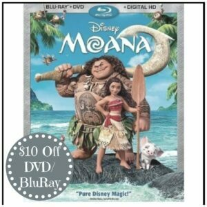 Get $10 off Moana DVD/BluRay if Preordered by March 6th
