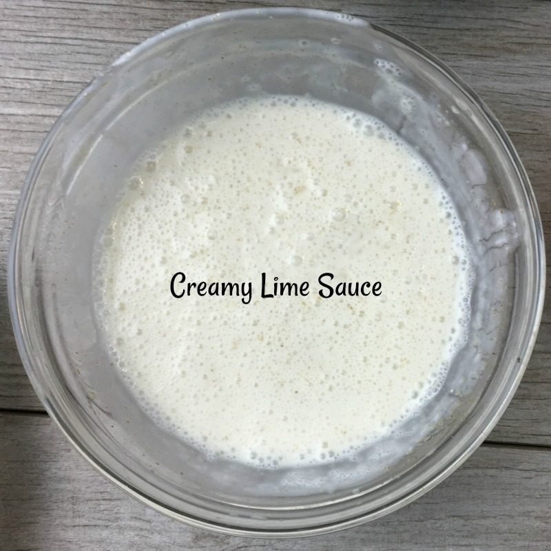 Creamy Lime Sauce for Southwestern Chicken Salad