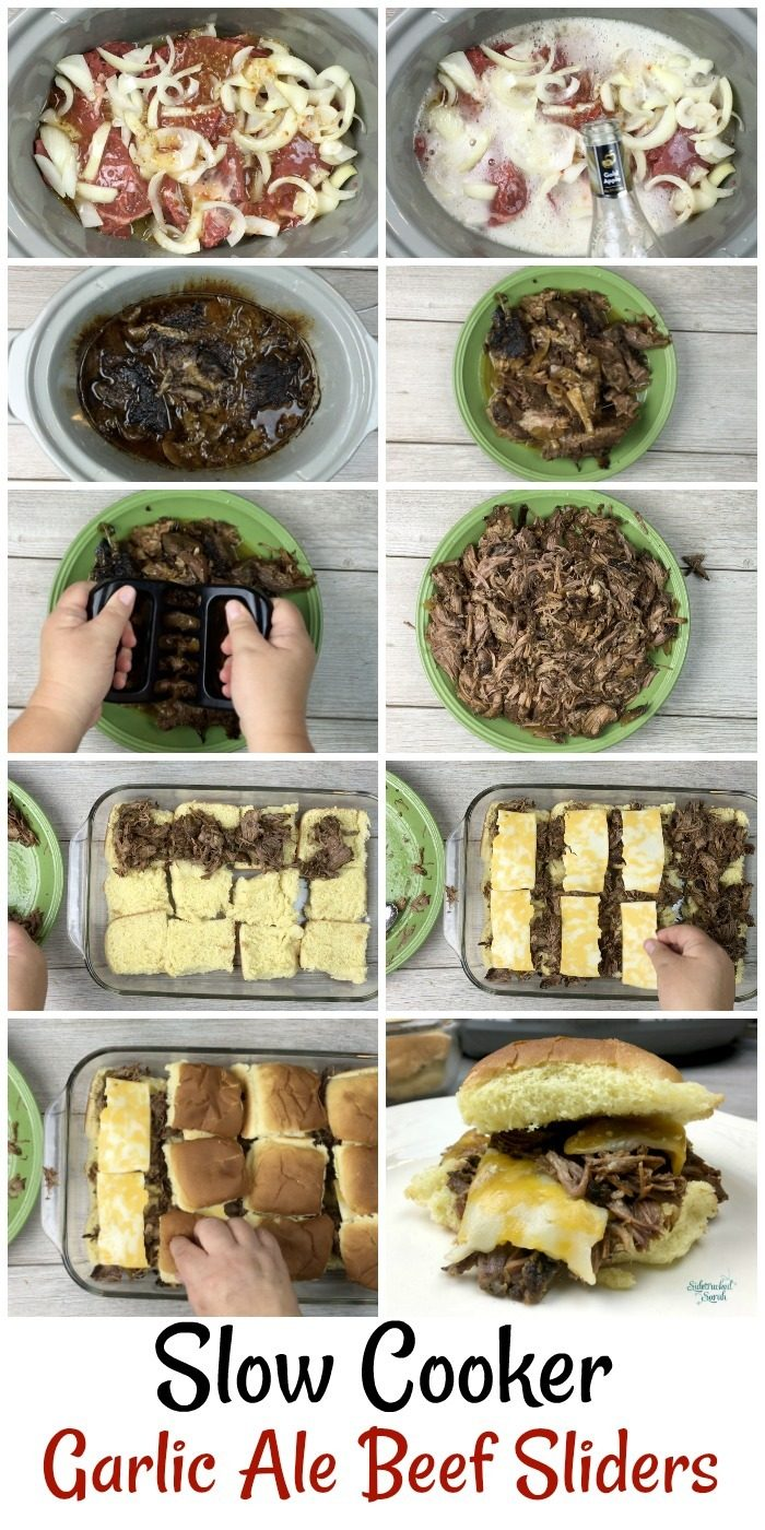 Slow Cooker Garlic Ale Beef Sliders - Sidetracked Sarah