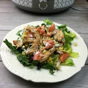 Southwestern Chicken Salad – Chicken is Made in the Slow Cooker