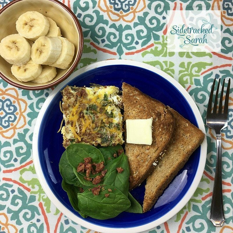 Easy Slow Cooker Bacon Spinach Quiche