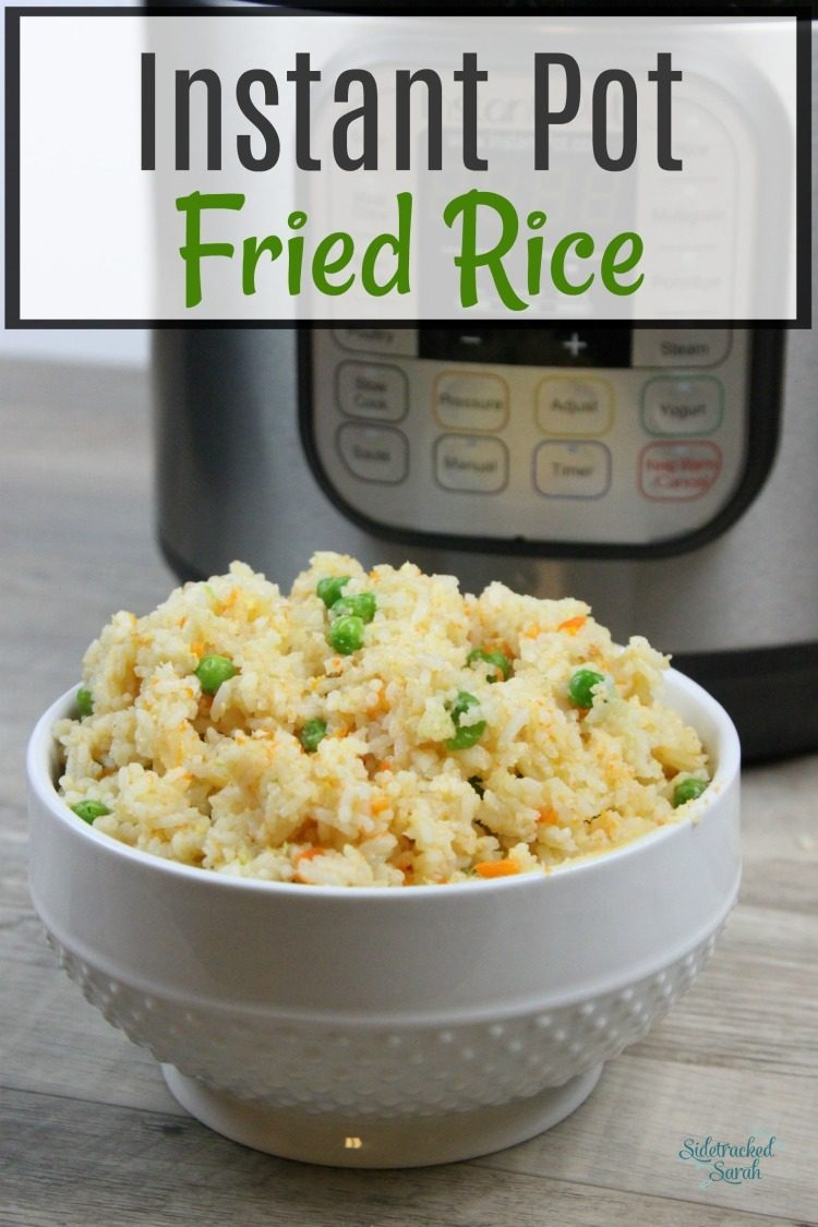 Instant Pot Fried Rice | Sidetracked Sarah
