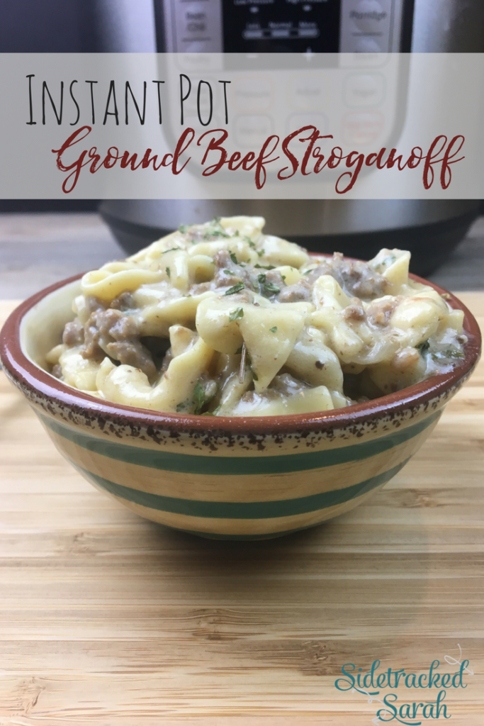 Instant Pot Ground Beef Stroganoff