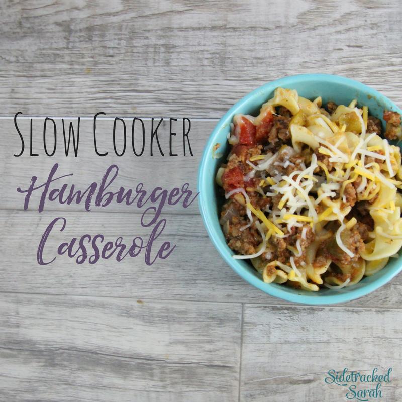 Slow Cooker Hamburger Casserole