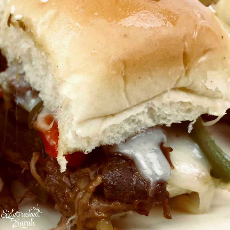 Crock Pot Philly Cheese Steak Sliders