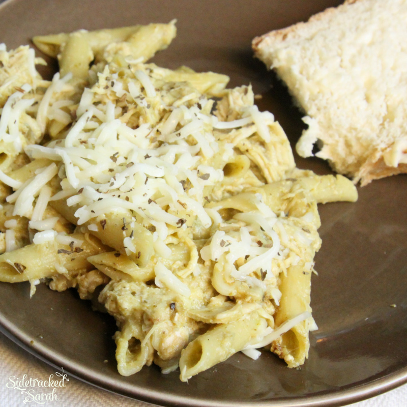 Slow Cooker Mozzarella Chicken & Pasta