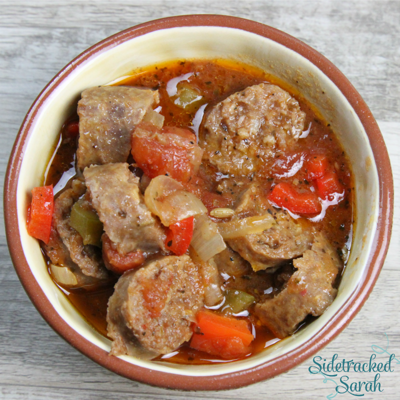 Crock Pot Italian Sausage and Peppers – Low Carb