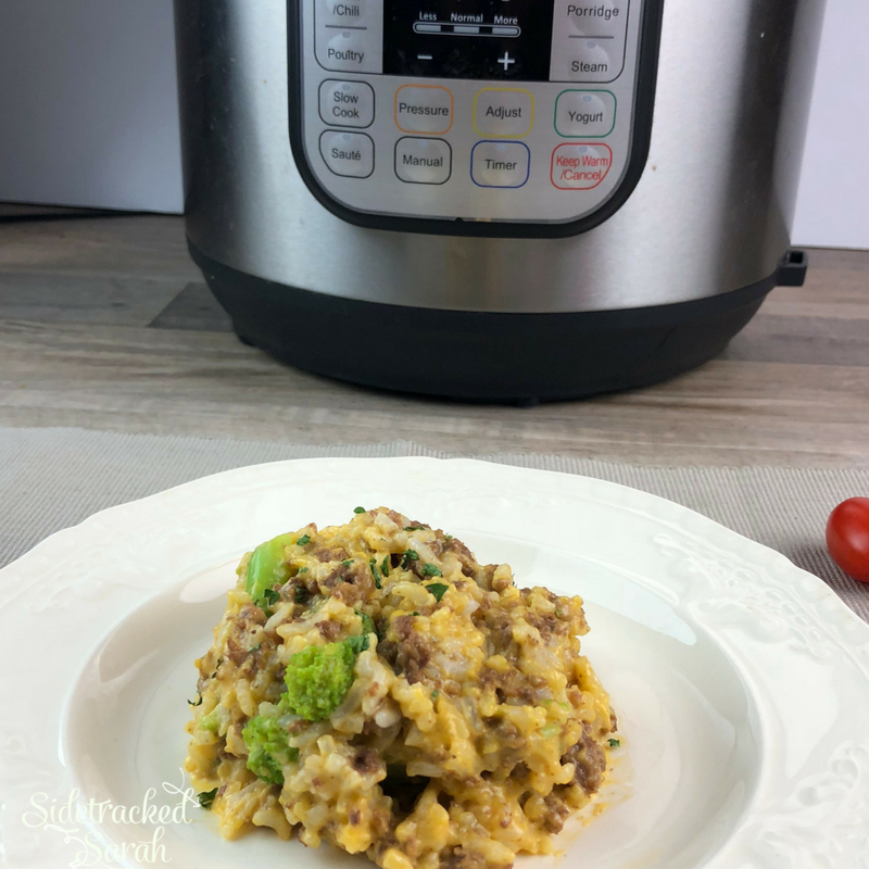 Instant Pot Beef & Broccoli Rice