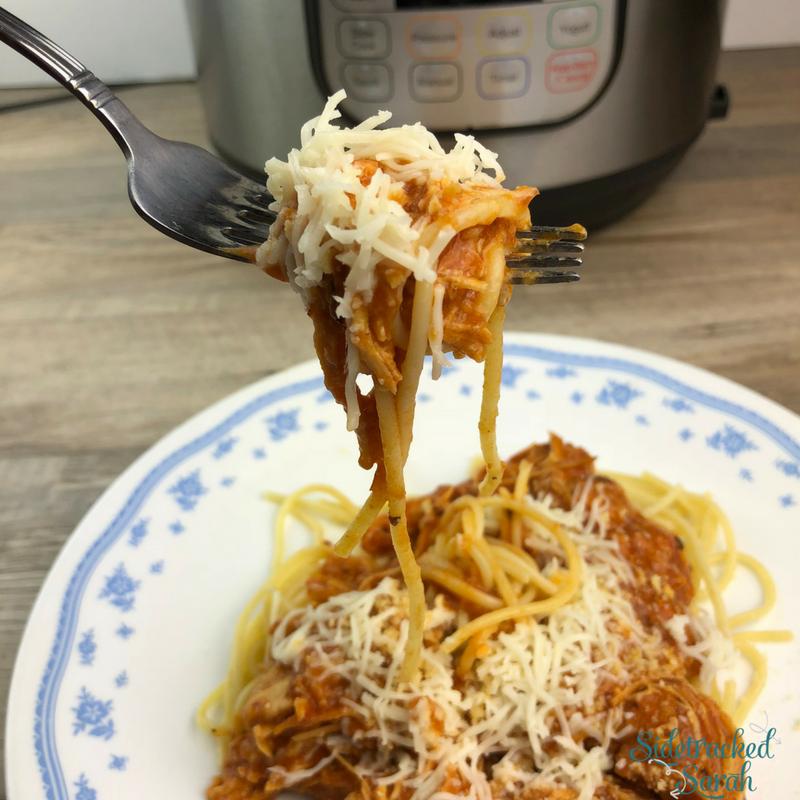 Instant Pot Chicken Parmesan Spaghetti
