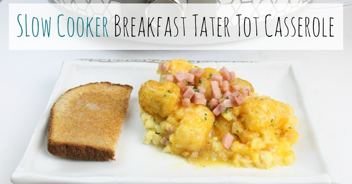 Slow Cooker Breakfast Tater Tot Casserole Sidetracked Sarah