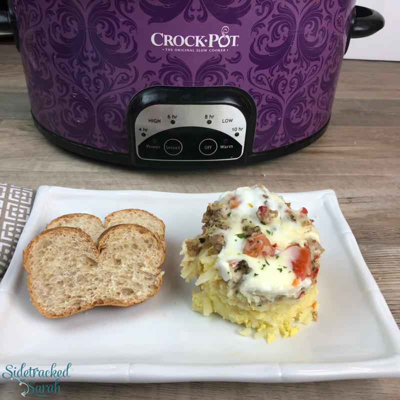 Slow Cooker Sausage & Egg Breakfast Casserole
