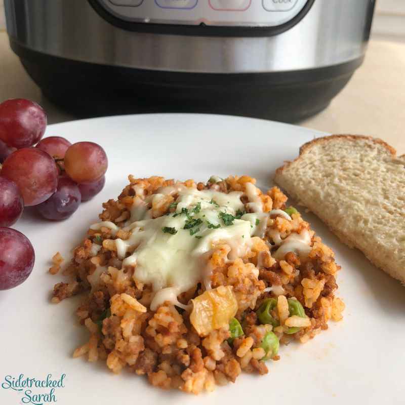 Instant Pot Ground Beef & Rice