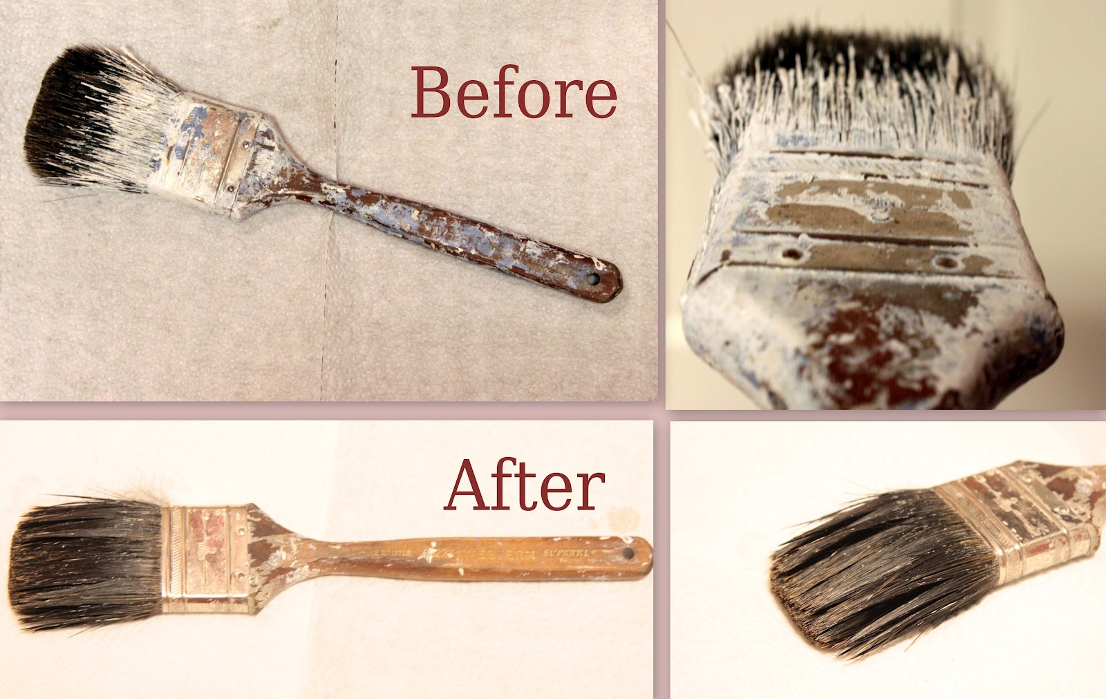 How to clean paintbrushes - How To Get Your Paintbrushes Clean Once The Paint Has Already Dried On Them