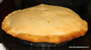 Chicken Pot Pie freshly cooked