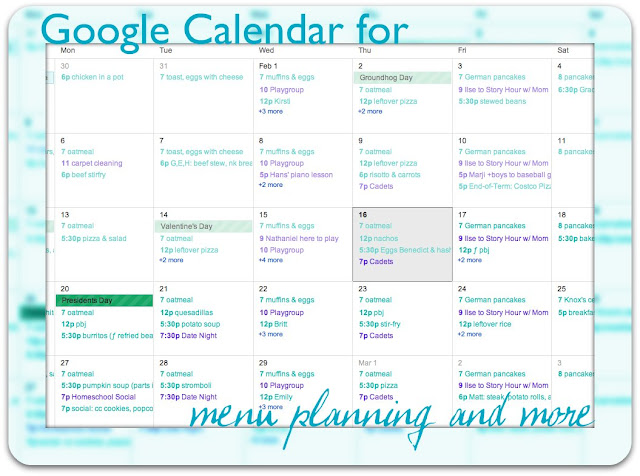 Using Google Calendar for Meal Planning – Meal Calendar